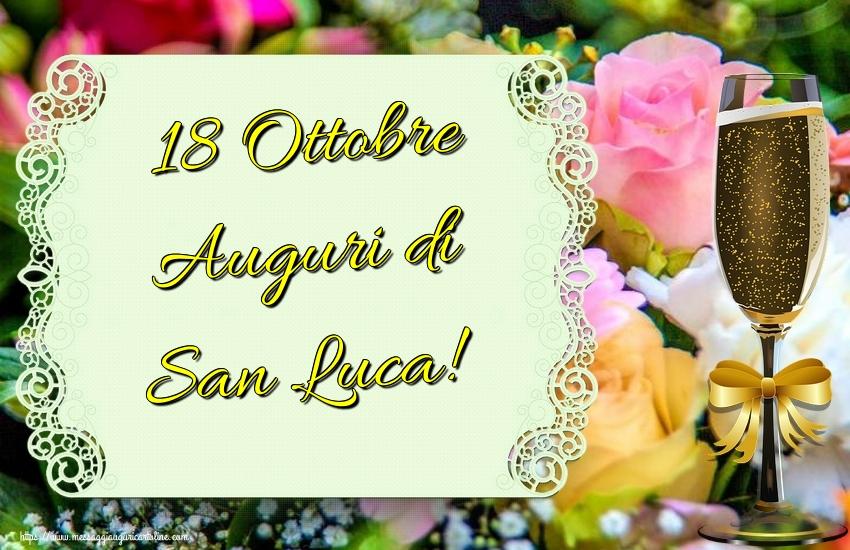 Cartoline di  San Luca - 18 Ottobre Auguri di San Luca!