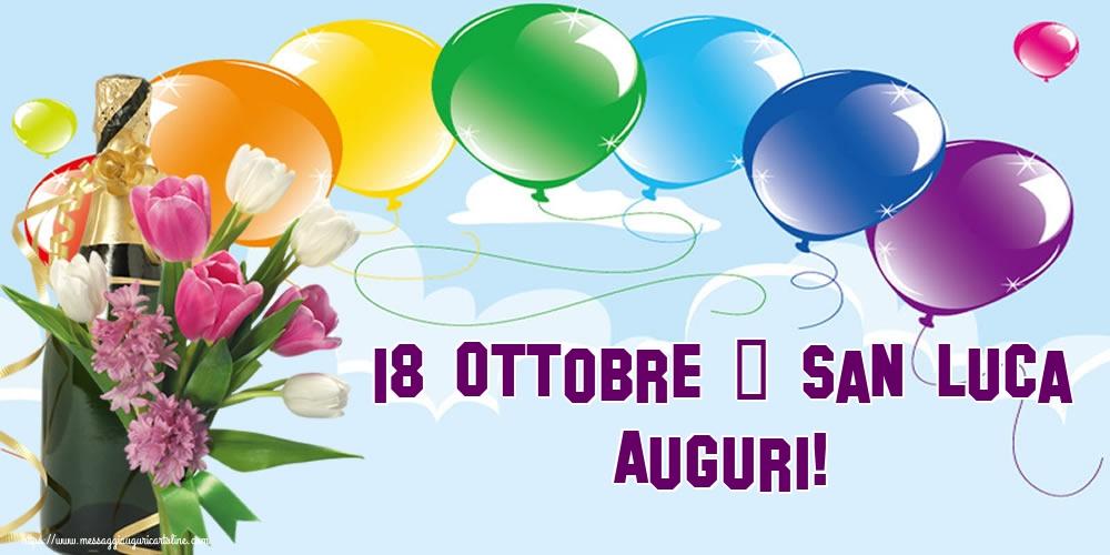 Cartoline di  San Luca - 18 Ottobre - San Luca Auguri!