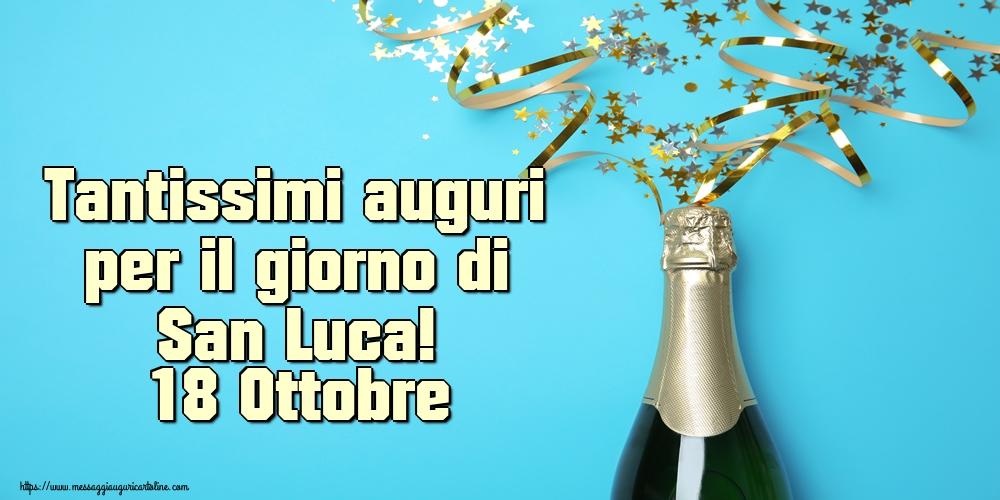 Cartoline di  San Luca - Tantissimi auguri per il giorno di San Luca! 18 Ottobre