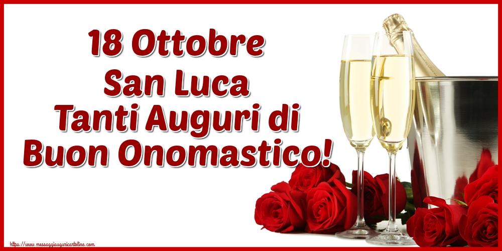 Cartoline di  San Luca - 18 Ottobre San Luca Tanti Auguri di Buon Onomastico!