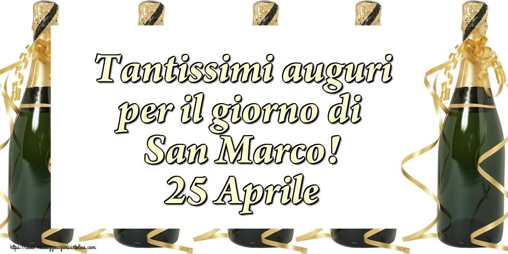 Cartoline di San Marco - Tantissimi auguri per il giorno di San Marco! 25 Aprile