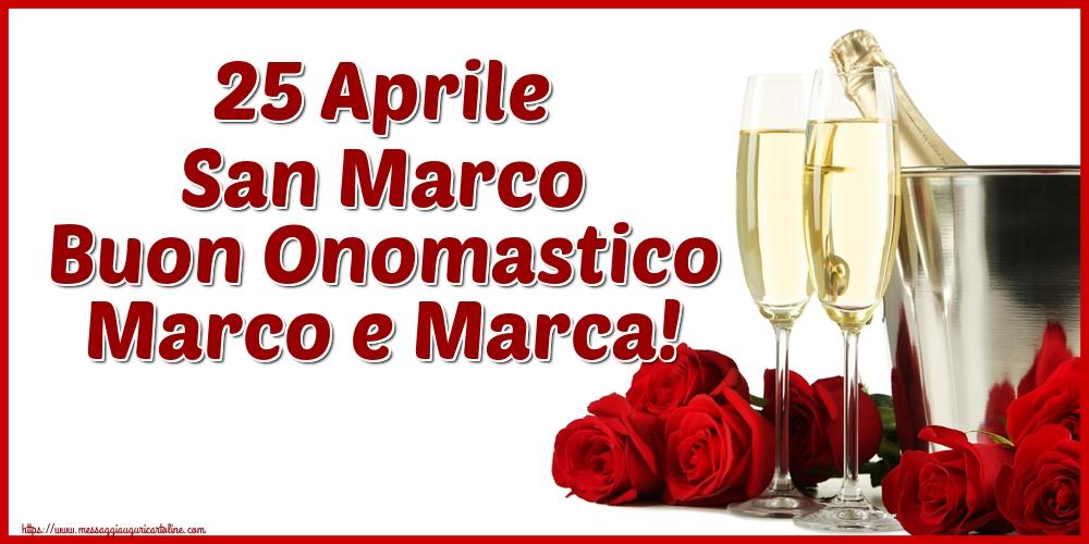 Cartoline di San Marco - 25 Aprile San Marco Buon Onomastico Marco e Marca!