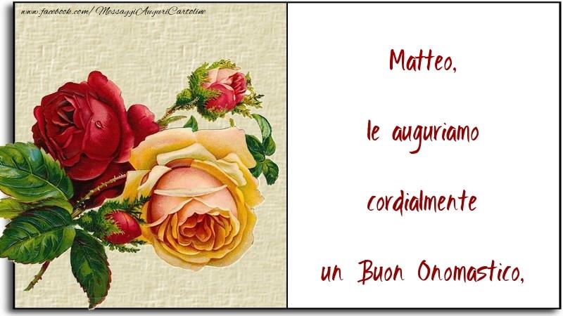 Cartoline di San Matteo - le auguriamo cordialmente un Buon Onomastico, Matteo