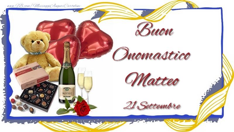 Cartoline di San Matteo - Buon Onomastico Matteo! 21 Settembre