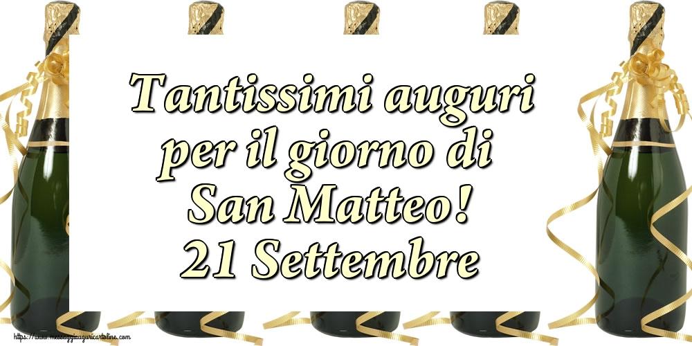 Cartoline di San Matteo - Tantissimi auguri per il giorno di San Matteo! 21 Settembre