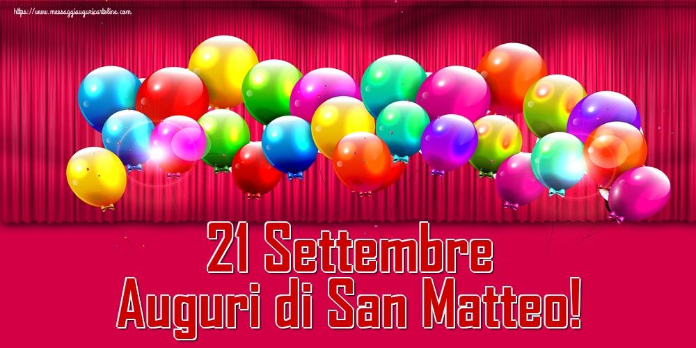 Cartoline di San Matteo - 21 Settembre Auguri di San Matteo!