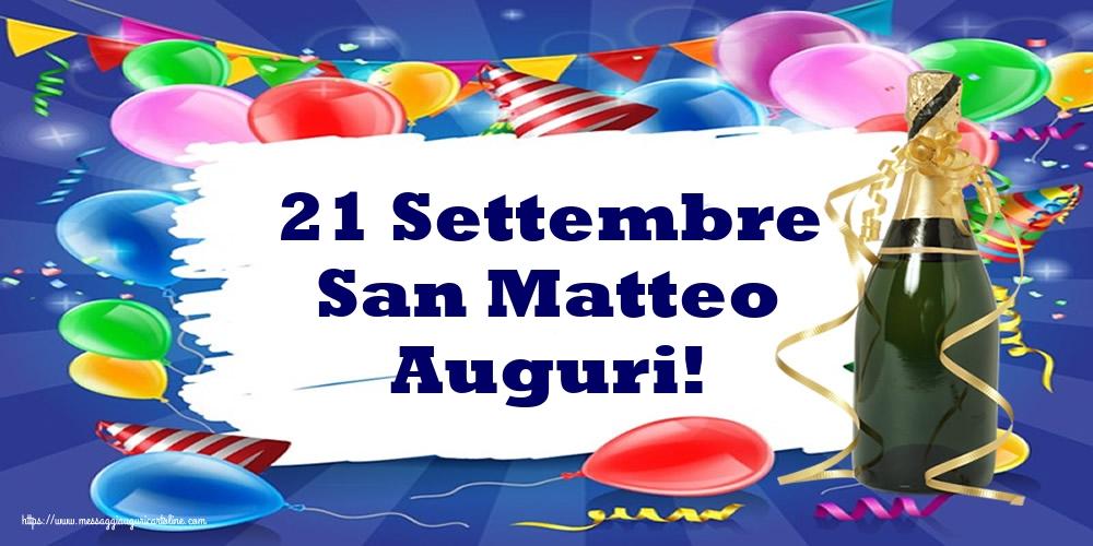 Cartoline di San Matteo - 21 Settembre San Matteo Auguri!