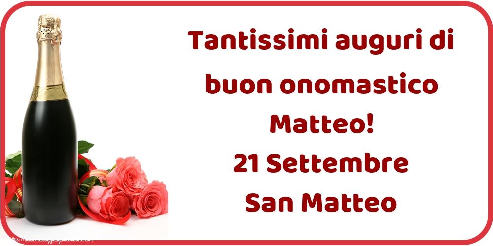 Cartoline di San Matteo - Tantissimi auguri di buon onomastico Matteo! 21 Settembre San Matteo