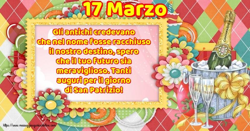 Cartoline di San Patrizio - 17 Marzo - 17 Marzo - Tanti auguri per il giorno di San Patrizio!