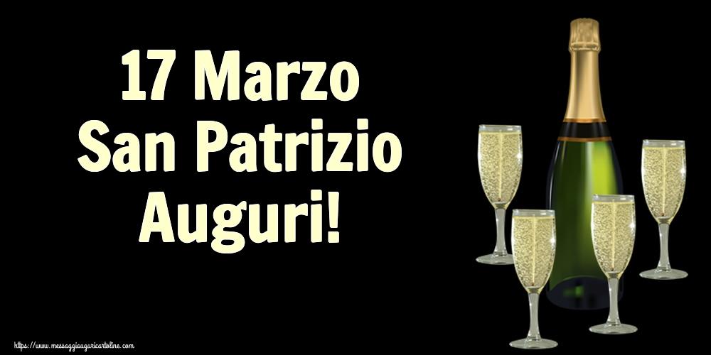 Cartoline di San Patrizio - 17 Marzo San Patrizio Auguri!