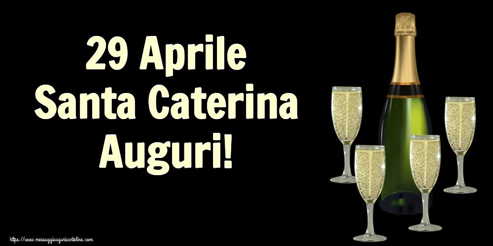 Cartoline di Santa Caterina - 29 Aprile Santa Caterina Auguri!