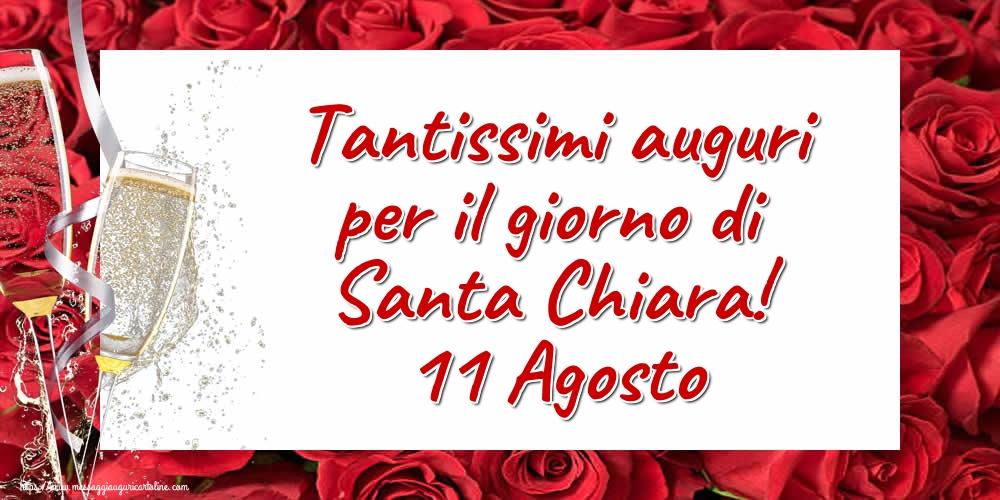 Cartoline di Santa Chiara - Tantissimi auguri per il giorno di Santa Chiara! 11 Agosto