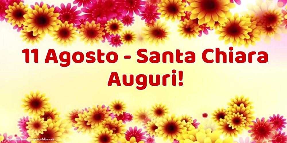 Cartoline di Santa Chiara - 11 Agosto - Santa Chiara Auguri!