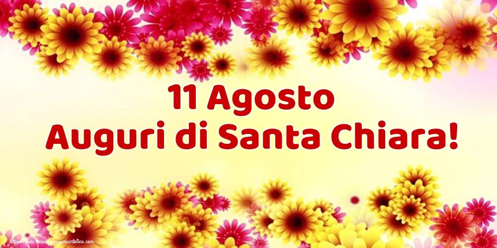 Cartoline di Santa Chiara - 11 Agosto Auguri di Santa Chiara!