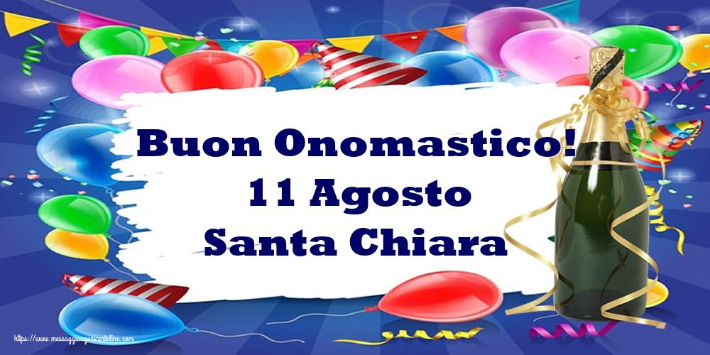 Cartoline di Santa Chiara - Buon Onomastico! 11 Agosto Santa Chiara