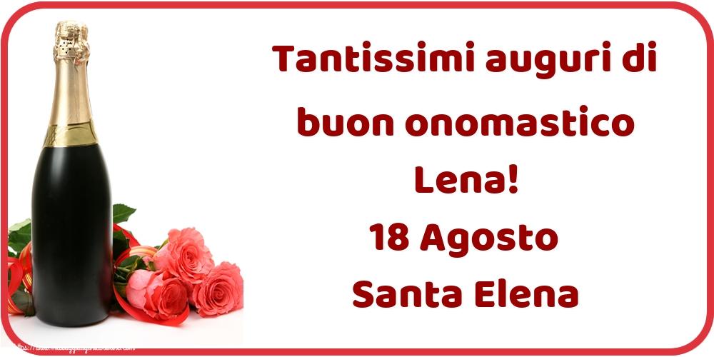 Cartoline di Santa Elena - Tantissimi auguri di buon onomastico Lena! 18 Agosto Santa Elena