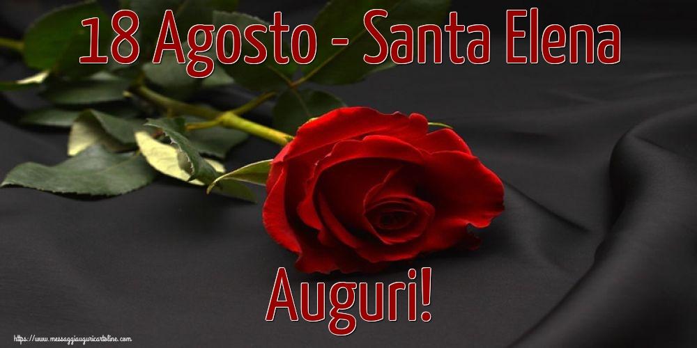 Cartoline di Santa Elena - 18 Agosto - Santa Elena Auguri!