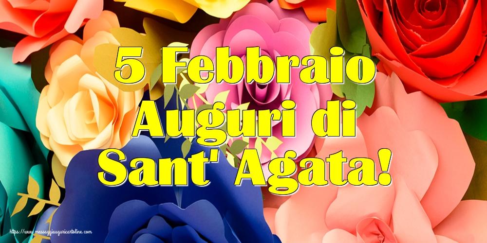 Cartoline di Sant' Agata - 5 Febbraio Auguri di Sant' Agata!