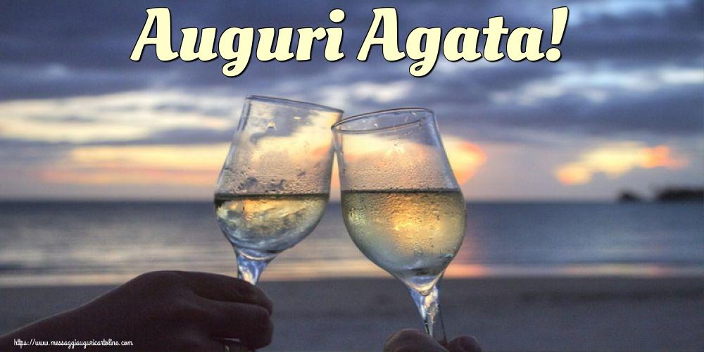 Cartoline di Sant' Agata - Auguri Agata!