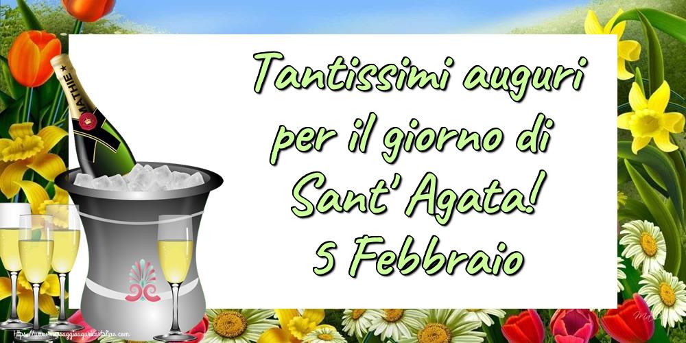 Cartoline di Sant' Agata - Tantissimi auguri per il giorno di Sant' Agata! 5 Febbraio