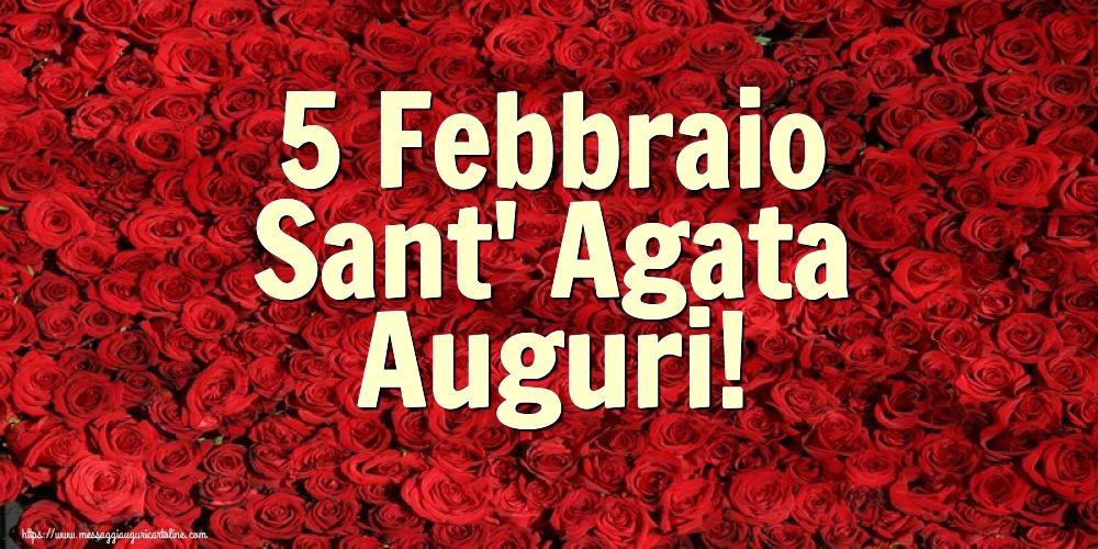 Cartoline di Sant' Agata - 5 Febbraio Sant' Agata Auguri!