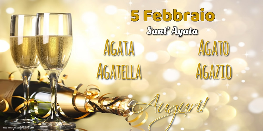 Cartoline di Sant' Agata - 5 Febbraio - Sant' Agata