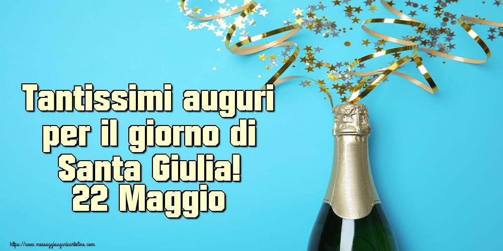 Cartoline di Santa Giulia - Tantissimi auguri per il giorno di Santa Giulia! 22 Maggio
