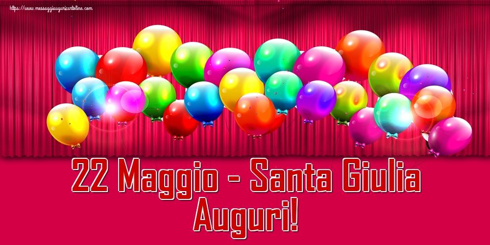 Cartoline di Santa Giulia - 22 Maggio - Santa Giulia Auguri!