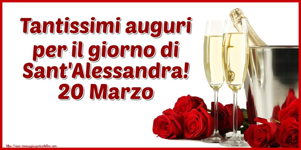Cartoline di Sant'Alessandra - Tantissimi auguri per il giorno di Sant'Alessandra! 20 Marzo