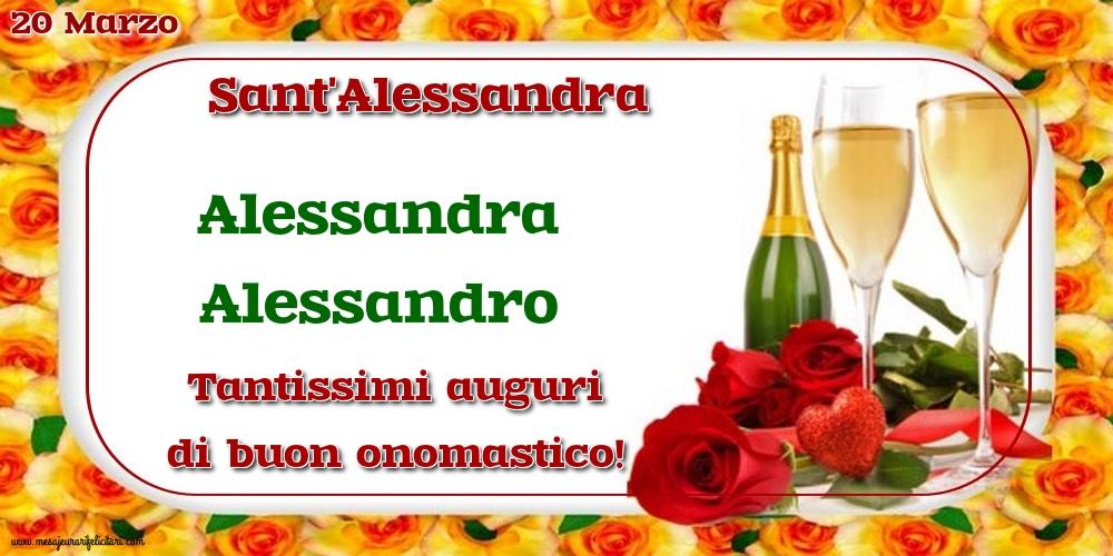 Cartoline di Sant'Alessandra - 20 Marzo - Sant'Alessandra