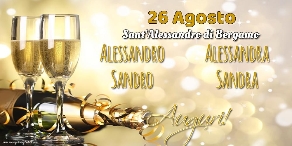 Cartoline di Sant'Alessandro - 26 Agosto - Sant'Alessandro di Bergamo