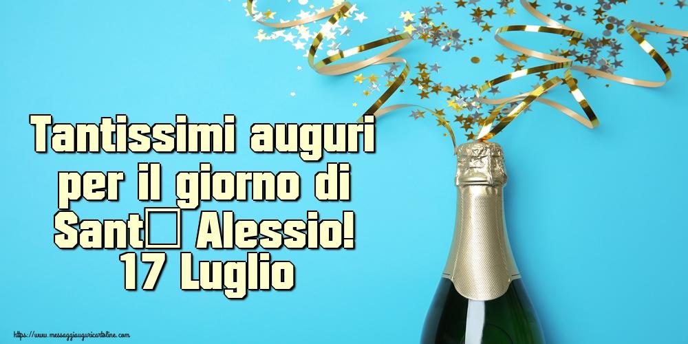 Cartoline di Sant' Alessio - Tantissimi auguri per il giorno di Sant' Alessio! 17 Luglio