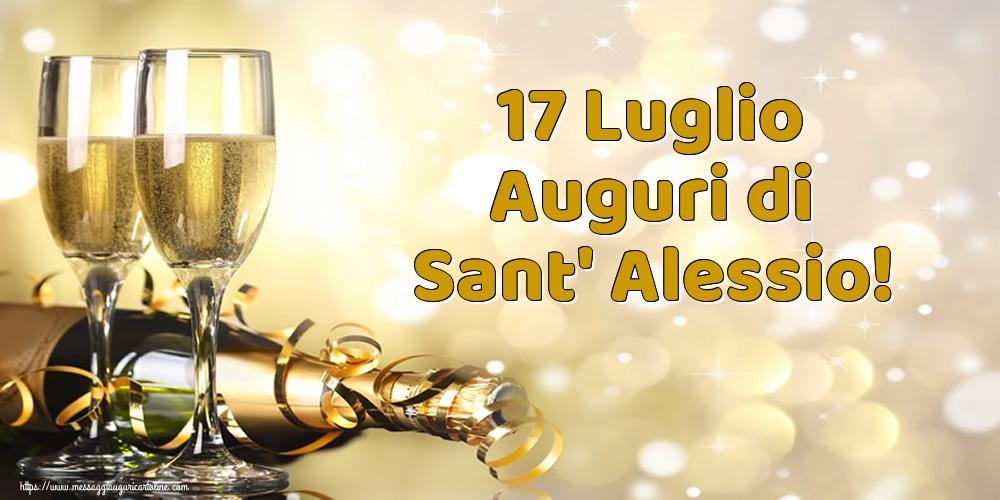 Cartoline di Sant' Alessio - 17 Luglio Auguri di Sant' Alessio!