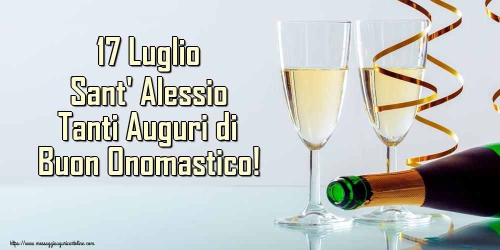 Cartoline di Sant' Alessio - 17 Luglio Sant' Alessio Tanti Auguri di Buon Onomastico!