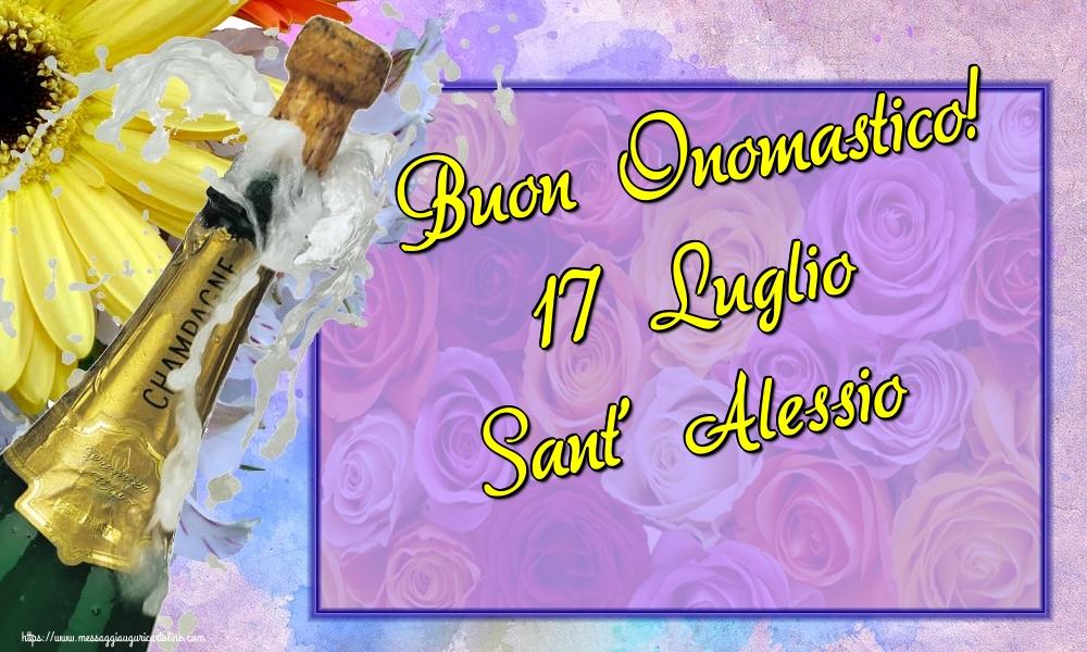 Cartoline di Sant' Alessio - Buon Onomastico! 17 Luglio Sant' Alessio