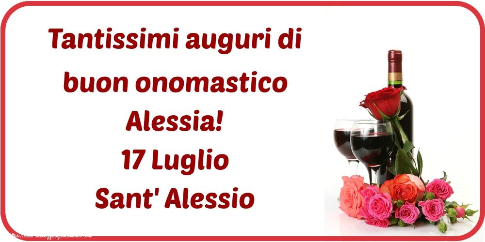 Cartoline di Sant' Alessio - Tantissimi auguri di buon onomastico Alessia! 17 Luglio Sant' Alessio