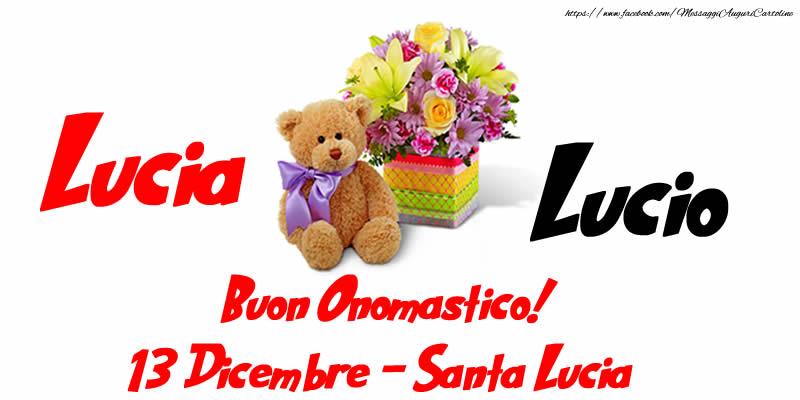Cartoline di Santa Lucia - Buon Onomastico! 13 Dicembre Santa Lucia
