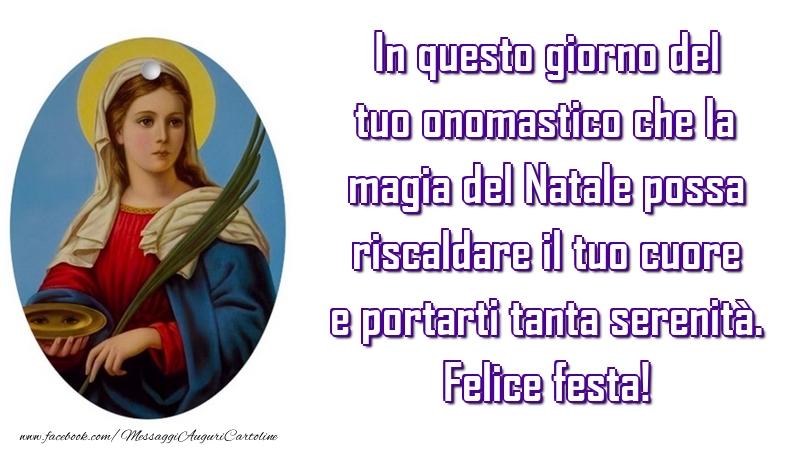 Cartoline di Santa Lucia - Felice festa!