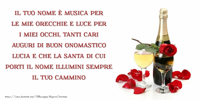 Cartoline di Santa Lucia - Auguri di buon onomastico Lucia!