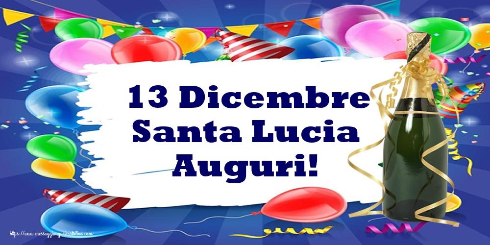 Cartoline di Santa Lucia - 13 Dicembre Santa Lucia Auguri!