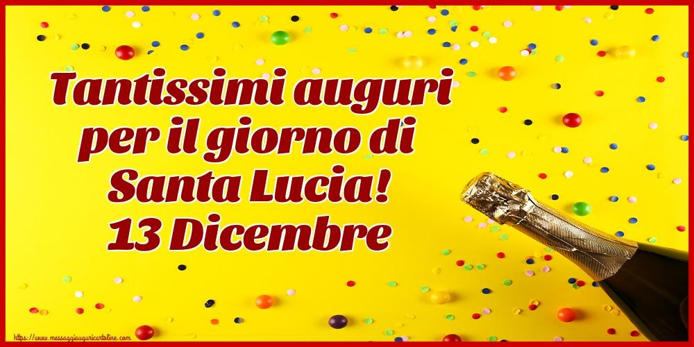 Cartoline di Santa Lucia - Tantissimi auguri per il giorno di Santa Lucia! 13 Dicembre