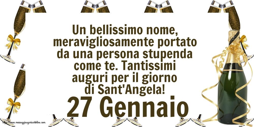 Cartoline di Sant' Angela - 27 Gennaio - Tantissimi auguri per il giorno di Sant'Angela!