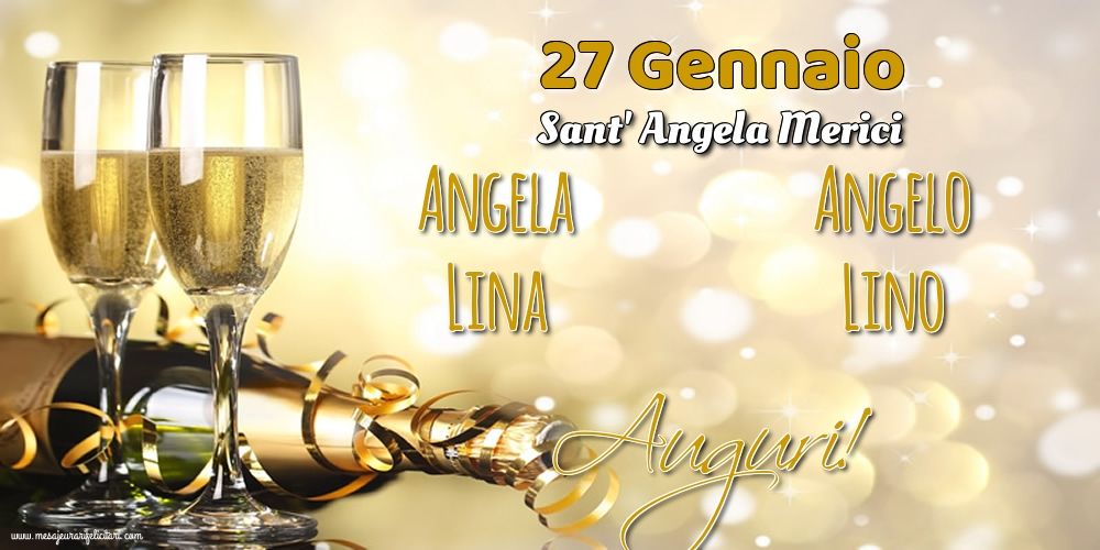 Cartoline di Sant' Angela - 27 Gennaio - Sant' Angela Merici