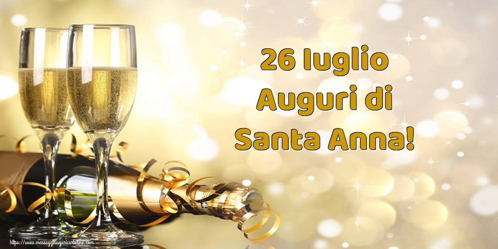 Cartoline di Sant'Anna - 26 Iuglio Auguri di Santa Anna!