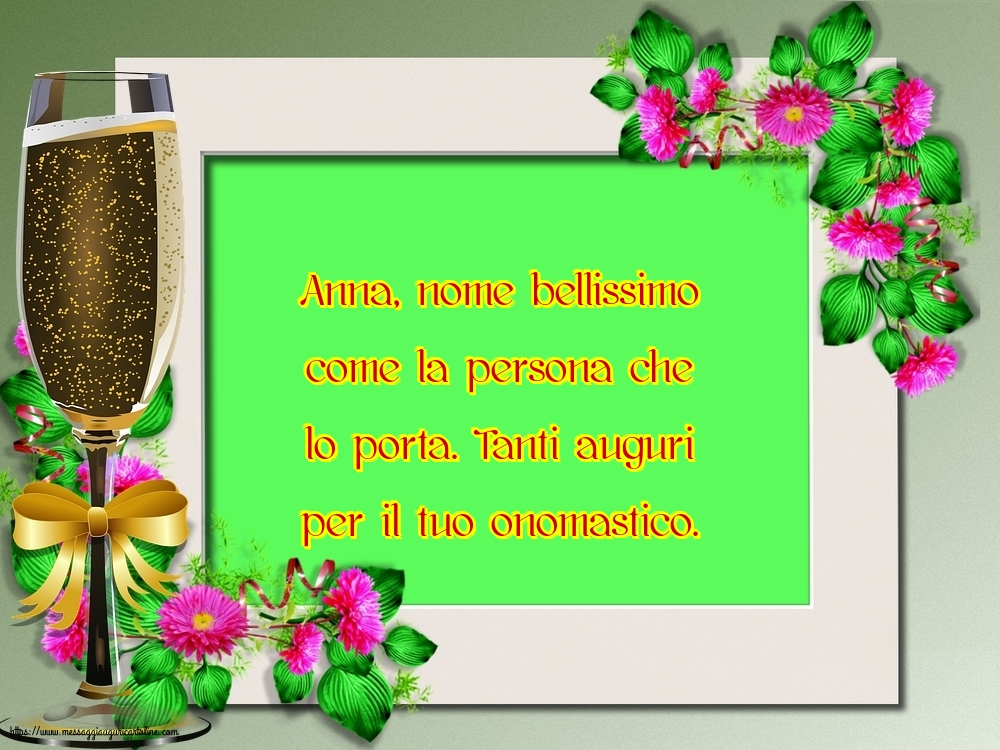 Cartoline di Sant'Anna - Tanti auguri per il tuo onomastico