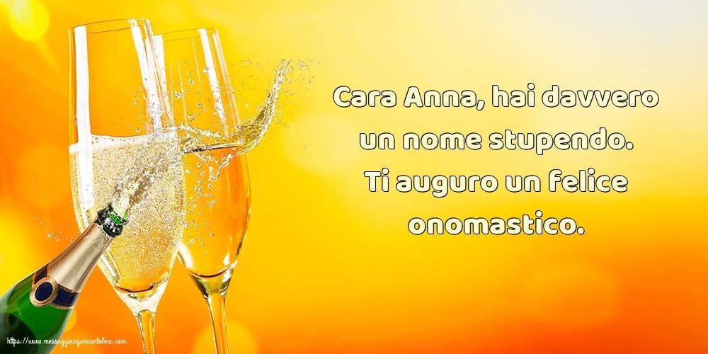 Cartoline di Sant'Anna - Cara Anna, ti auguro un felice onomastico