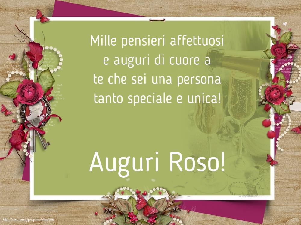 Cartoline di Santa Rosa - Auguri Roso!