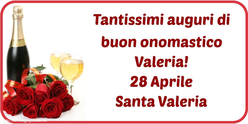 Cartoline di Santa Valeria - Tantissimi auguri di buon onomastico Valeria! 28 Aprile Santa Valeria