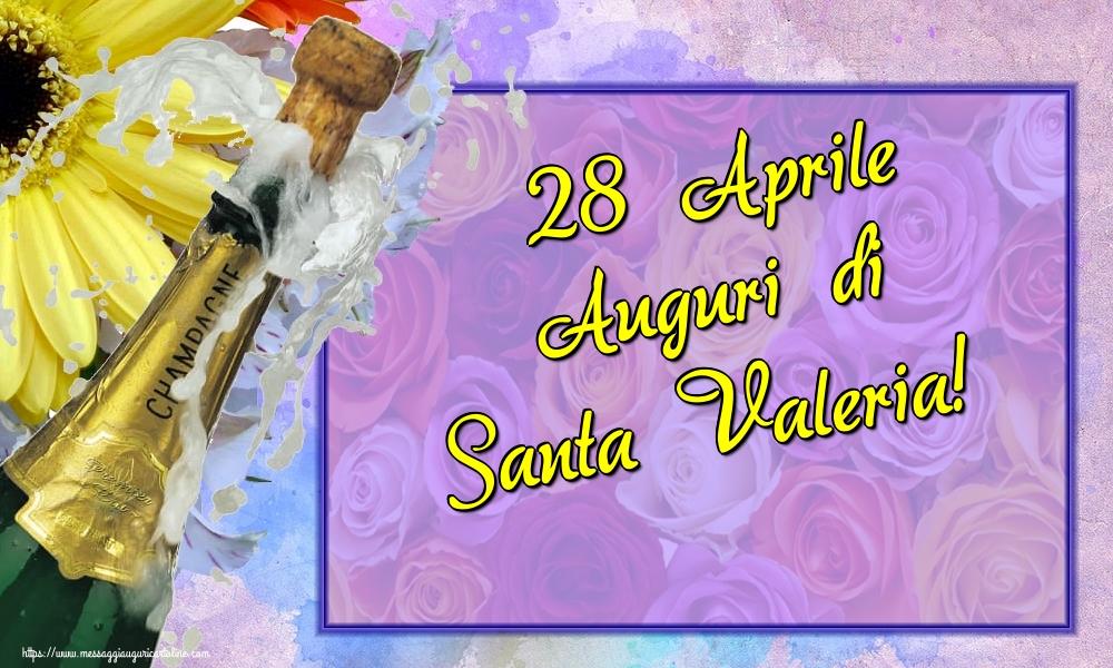 Cartoline di Santa Valeria - 28 Aprile Auguri di Santa Valeria!
