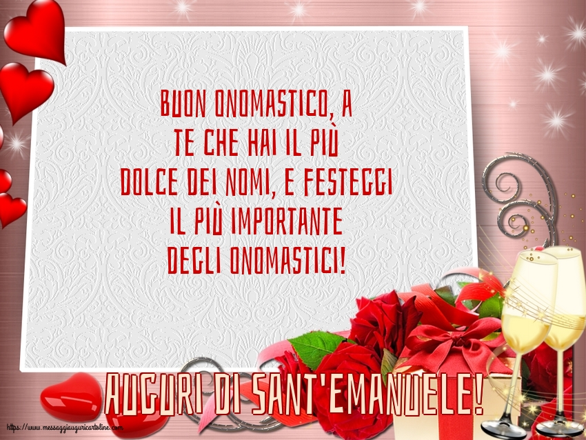 Cartoline di Sant'Emanuele - Auguri di Sant'Emanuele!